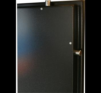 FB Coffre fort Collectivité 6 compartiments (clés différentes) Couleur gris foncé avec étagères